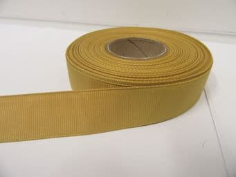 Dark Old Gold Grosgrain ribbon Ribbed Double sided, 3mm, 6mm 10mm 16mm 22mm 38mm 50mm